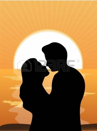334x450 Silhouettes Of People Loving Couple