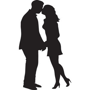 300x300 Couple Clipart Kiss
