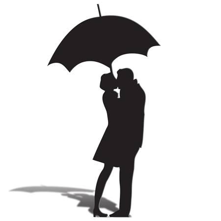 450x450 Pictures Couple Silhouette Umbrella,