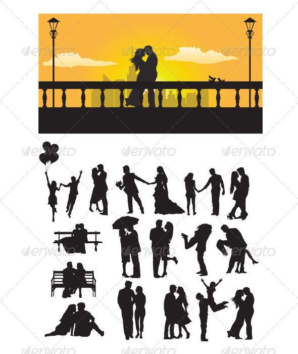 590x700 Printable Couple Kissing Under Umbrella Silhouette