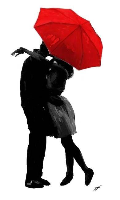 390x650 Couple Umbrella Silhouette