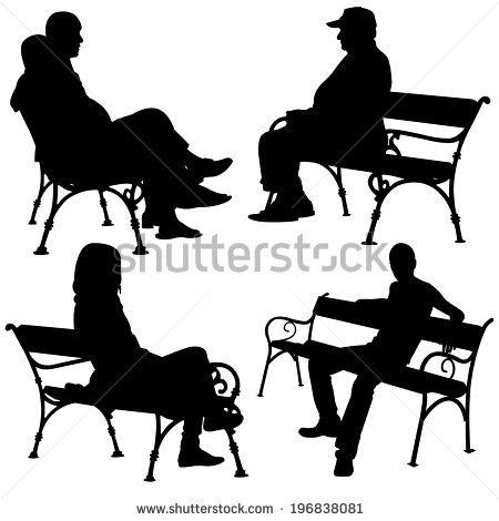 450x470 Silhouettes Of People On Benches