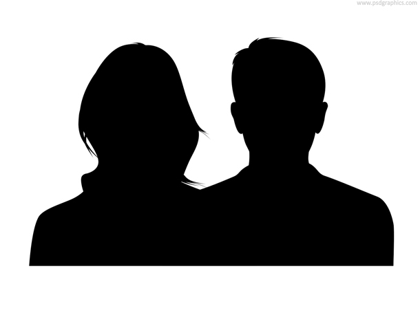 610x458 Couple Silhouette, Male And Female (Psd) Psdgraphics
