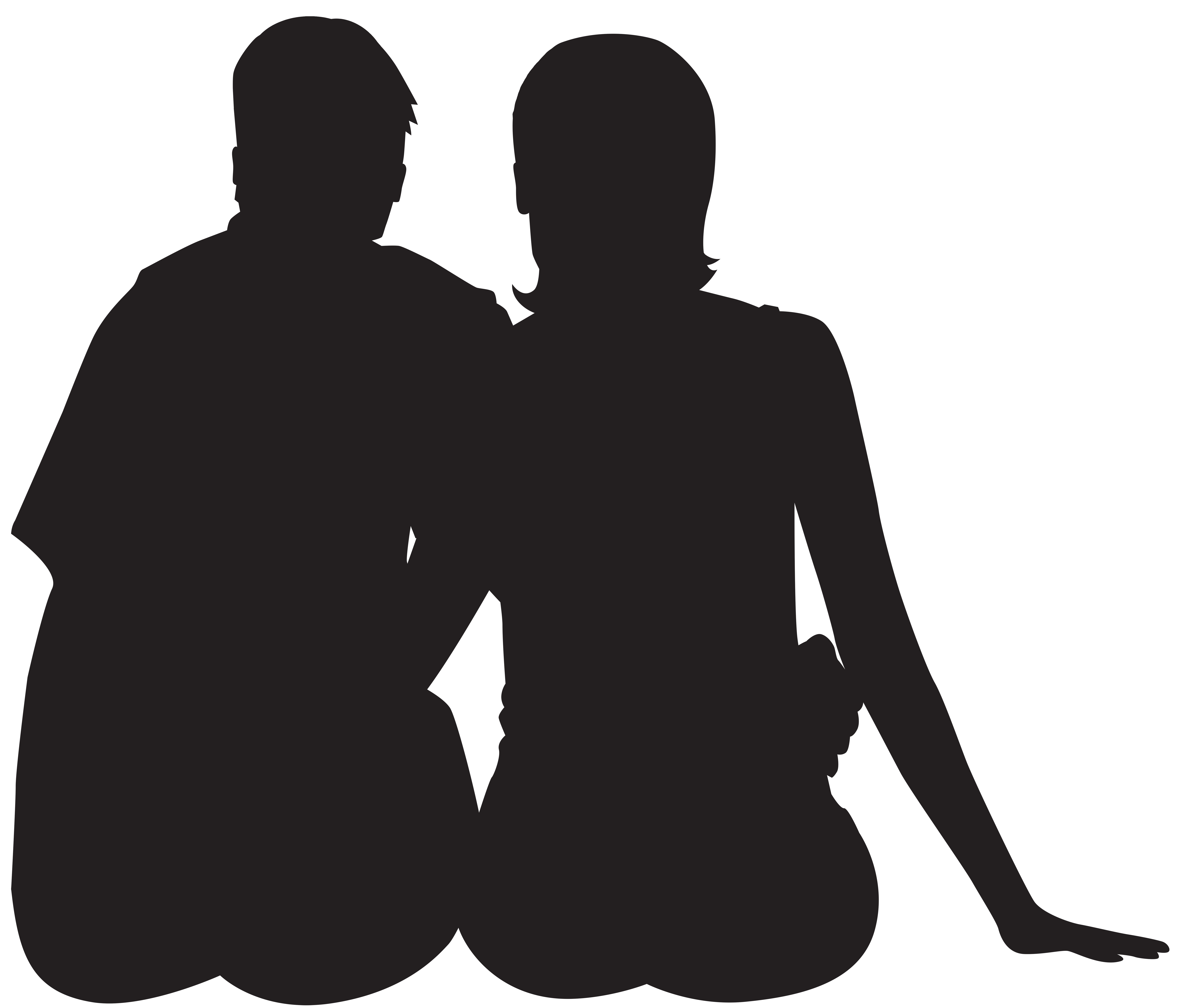 8000x6820 Sitting Couple Silhouette Png Clip Art Imageu200b Gallery
