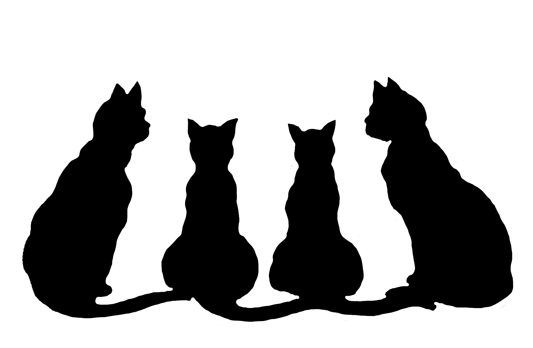 1762x1150 Cat Silhouette Clipart Black And White