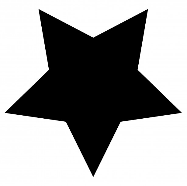 615x613 Star Clipart Black And White