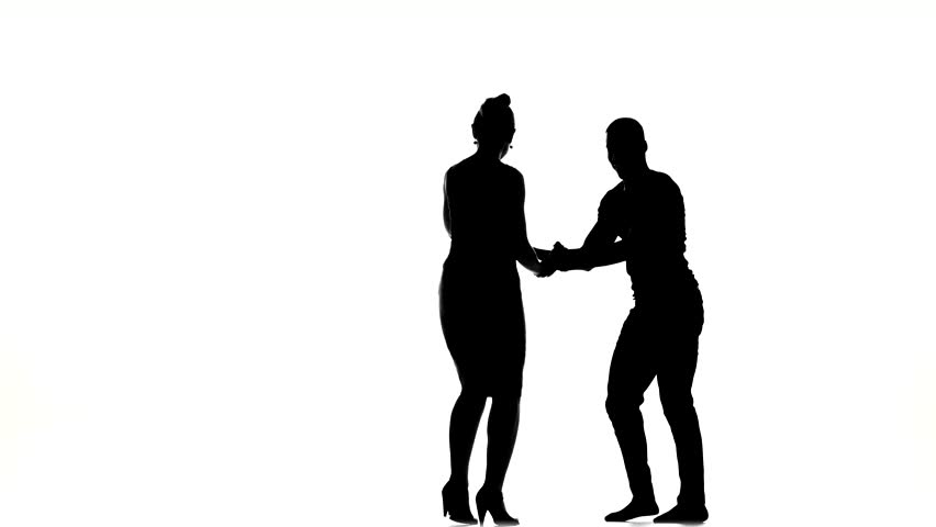 852x480 Dancing Couple Silhouettes. Stock Footage Video 2785054 Shutterstock