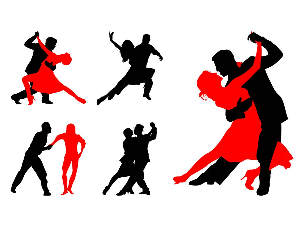 1024x765 Dancing Couples Silhouettes Vector Art Amp Graphics