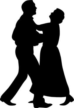 252x368 Waltz Dancing Couple Silhouette Graphic Free Vector Download