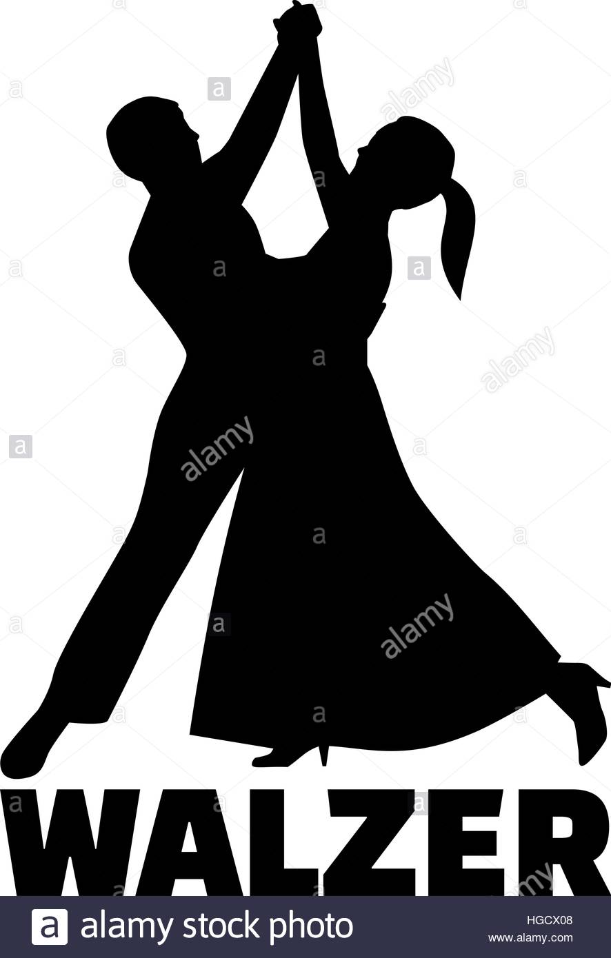 886x1390 Couple Silhouette Dancing Waltz German Stock Vector Art