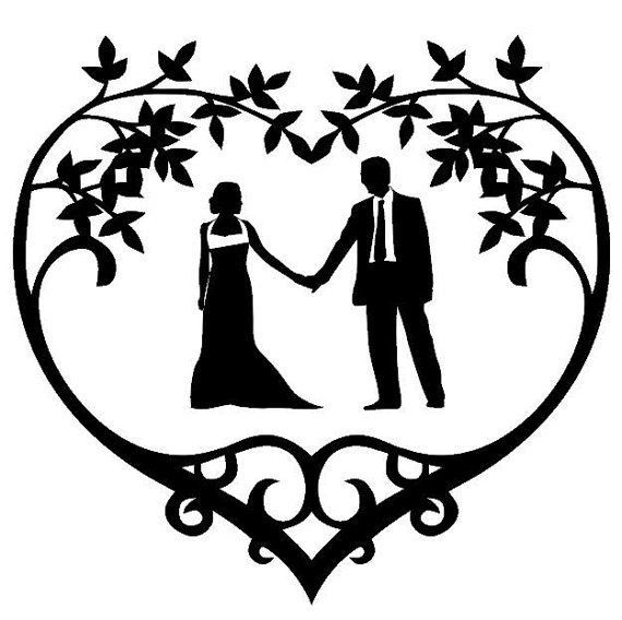 570x568 Wedding Bride Groom Stencil, Wall Stencil, Painting Stencil