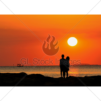 Couple Silhouette Sunset