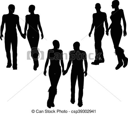 450x402 Eps 10 Vector Illustration Of A Couple Silhouette Eps Vector