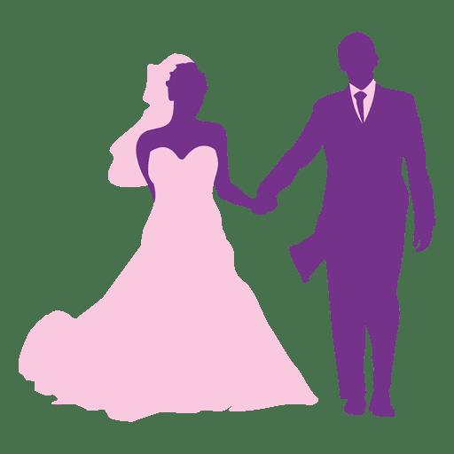 512x512 Happy Wedding Couple Silhouette