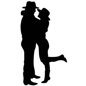 300x300 Romantic Couple Silhouette Clipart, Cliparts Of Romantic Couple