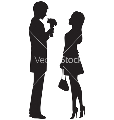 380x400 Silhouette of couple on a date vector 1169777  +by+urchenkojulia