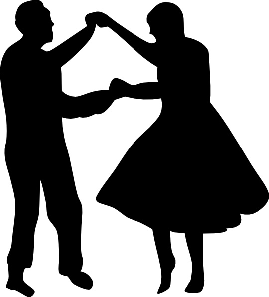 540x596 Dancing Couple Fifties Clip Art Free Vector In Open Office Drawing