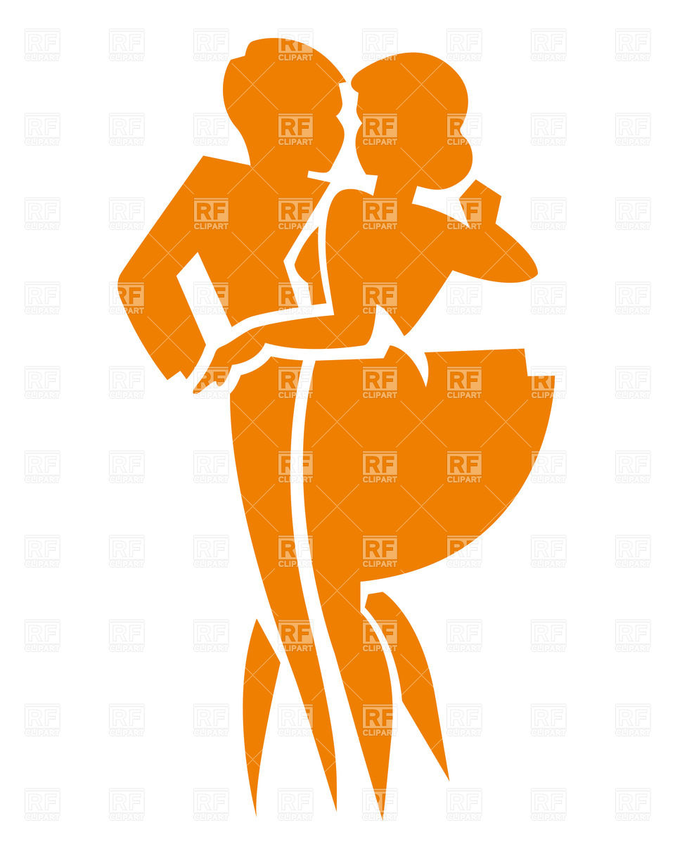 960x1200 Dancing Couple Silhouette Royalty Free Vector Clip Art Image
