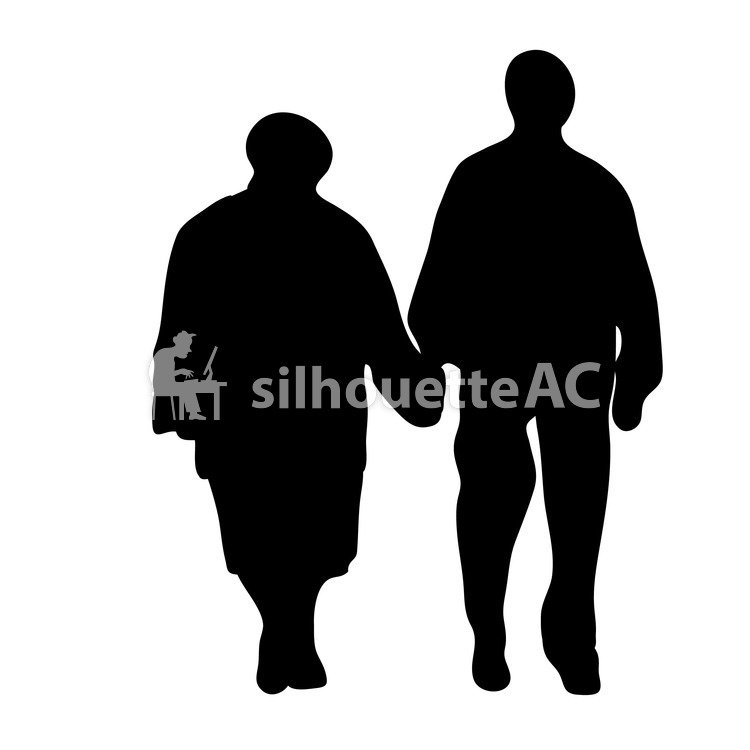 750x750 Free Silhouette Vector Elderly People, Elderly