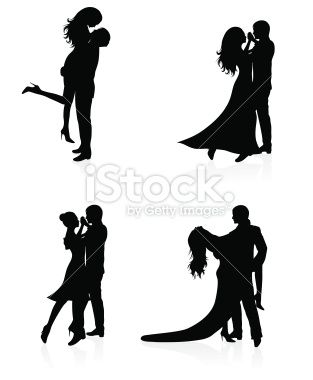 313x380 Set Of Vector Silhouettes Of Dancing Couples. Dancing Couple
