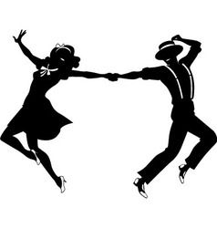 238x250 Silhouette Of A Couple Dancing Vector Misc.