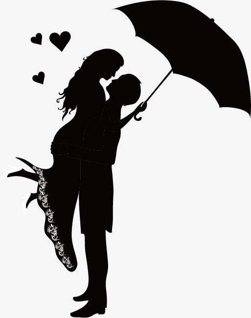 513x650 Couple Silhouette Figures, Lovers, Sketch, Silhouette Figures Png