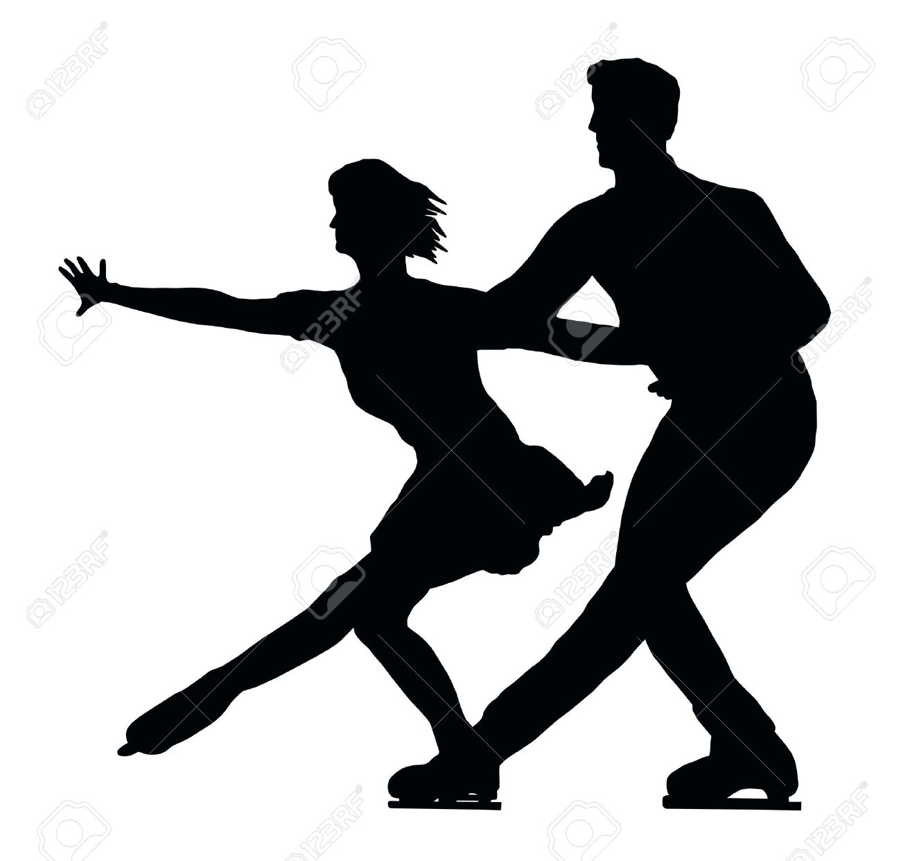 1300x1242 Couple Clipart Ice Skating