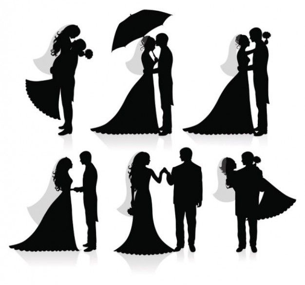 626x585 Drawn Bride Married Couple