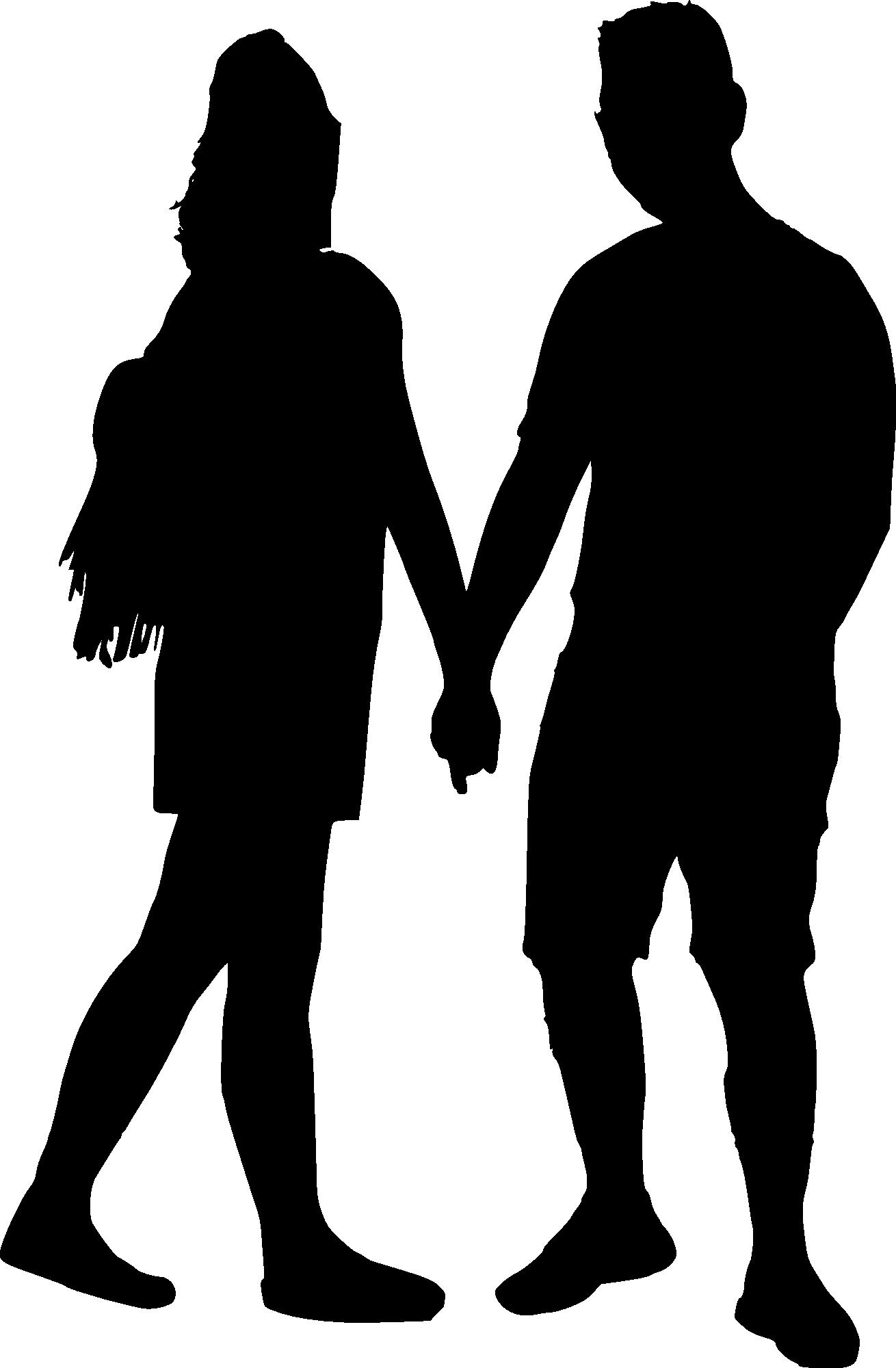 1310x2000 15 Couple Silhouette (Png Transparent)
