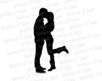 340x270 Silhouette Couple Under Umbrella Printable