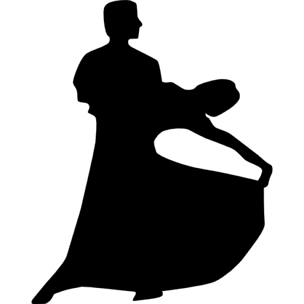626x626 Couple Silhouette Of Flamenco Dance Icons Free Download