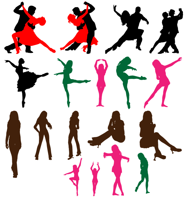 600x630 Free Dancing Couple Silhouettes Vector Art Download Free Vector