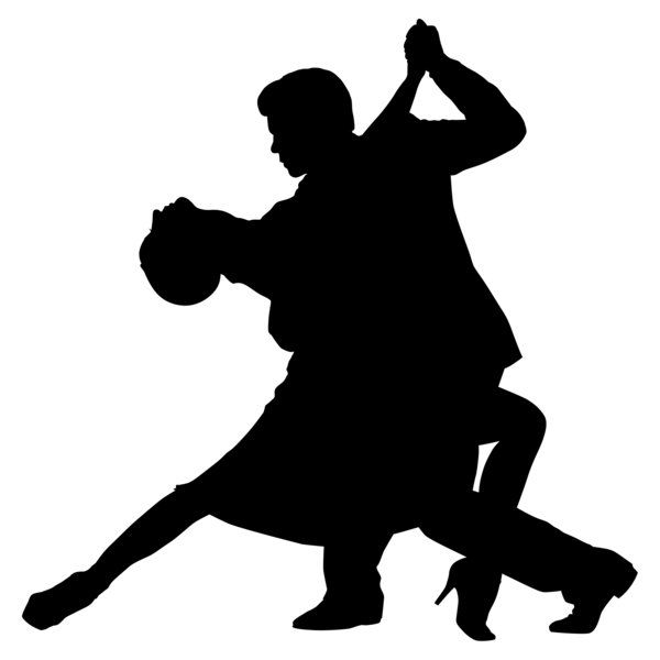 600x600 Couples Dance Silhouette