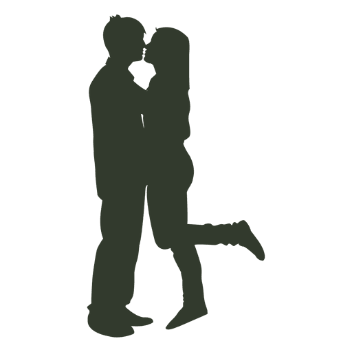 512x512 Couple Kissing Silhouette Lifted Girl Leg