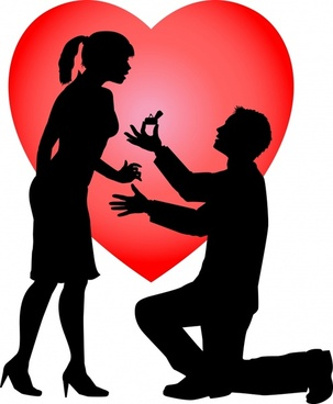 303x368 Happy Couple Silhouette Clip Free Vector Download (30,342 Free