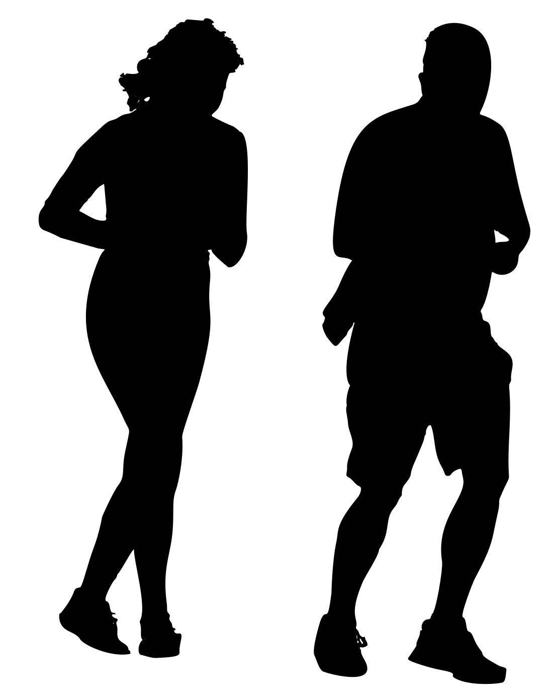 1112x1391 Jogging Couple Silhouette Clipart