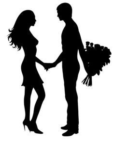 236x295 Man And Woman Silhouette Clip Art Couple Clipart Image