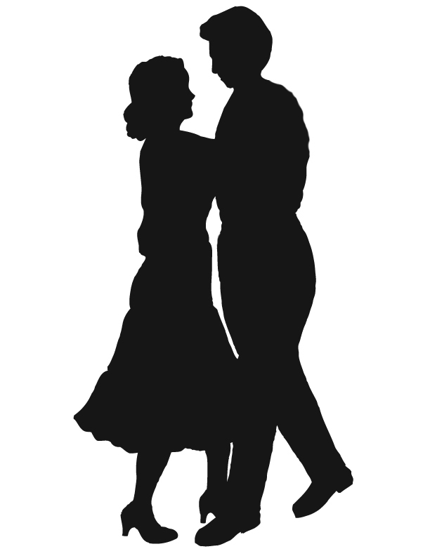 612x792 Couples Silhouette Clipart