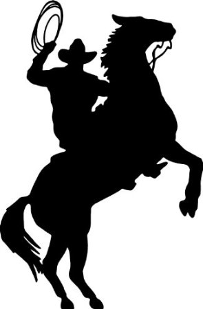295x450 Cowboy Horse Rider Western Wall Decal Home Decor
