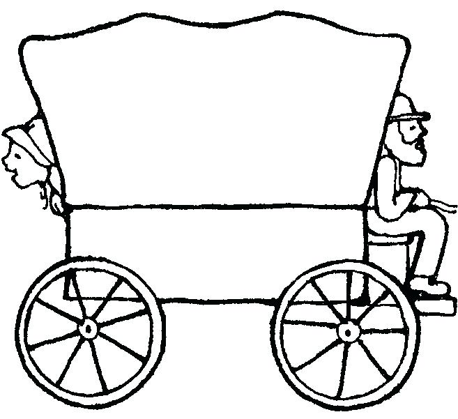 657x601 Covered Wagon Clip Art Black And White