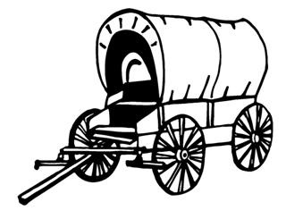 320x245 Covered Wagon Decal Sticker