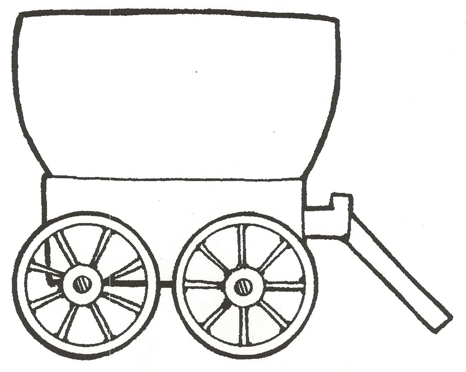 1600x1277 Covered Wagon Coloring Pages