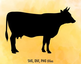 340x270 Cow Silhouette Etsy