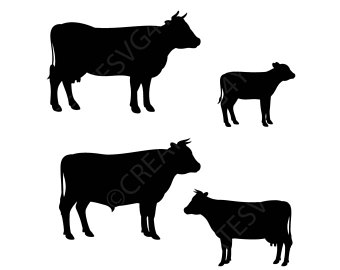 340x270 Cows Bulls Calves Instant Download 1 Dxf 1 Png 1