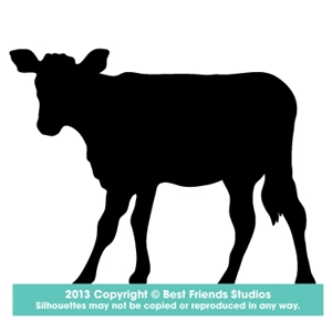 300x300 Calf Silhouette Gifts, Stationery, Address Labels, Note Cards
