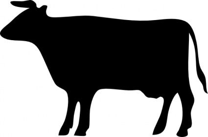425x280 Cow Silhouette Clip Art Vector, Free Vector Images