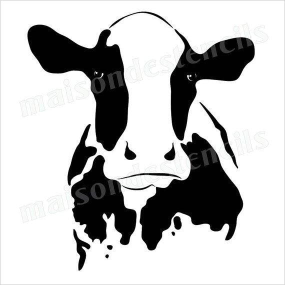 570x570 Euro Stencil Designs Cow Silhouette Farm 12 X 12 Inch Stencil