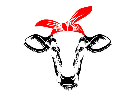570x414 Heifer Svg Bandana Heifer Cow Svg Cow Svg Files For Cricut
