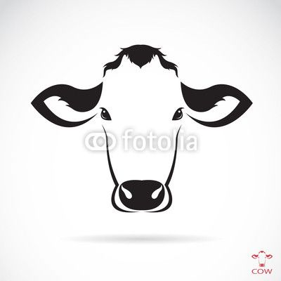 Cow Head Silhouette