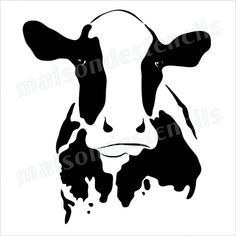 236x236 Cow Head Silhouette 12x12 Stencil Cow Head, Stenciling And Cow